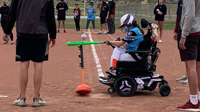 Codi Mendenhall has cerebral palsy, but her mom says adaptive P.E. teachers have helped her...