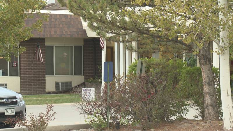 The outside of the Mesa Manor care facility in Grand Junction, Colo.