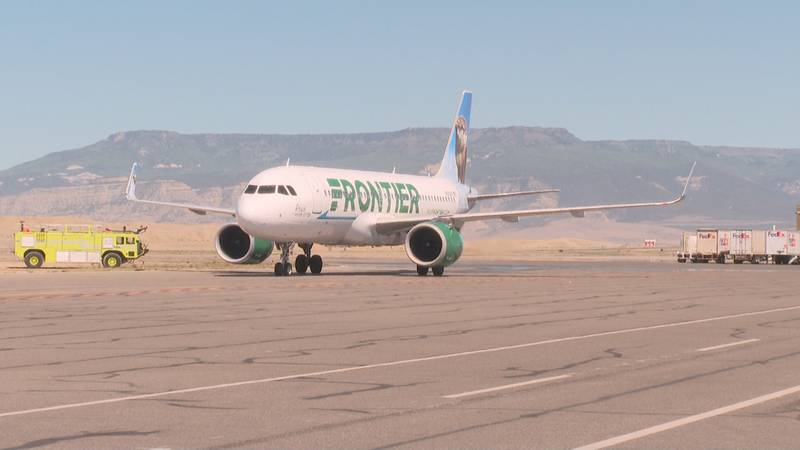 Colorado Gov. Jared Polis flew to Grand Junction from Denver on the inaugural flight on Tuesday.