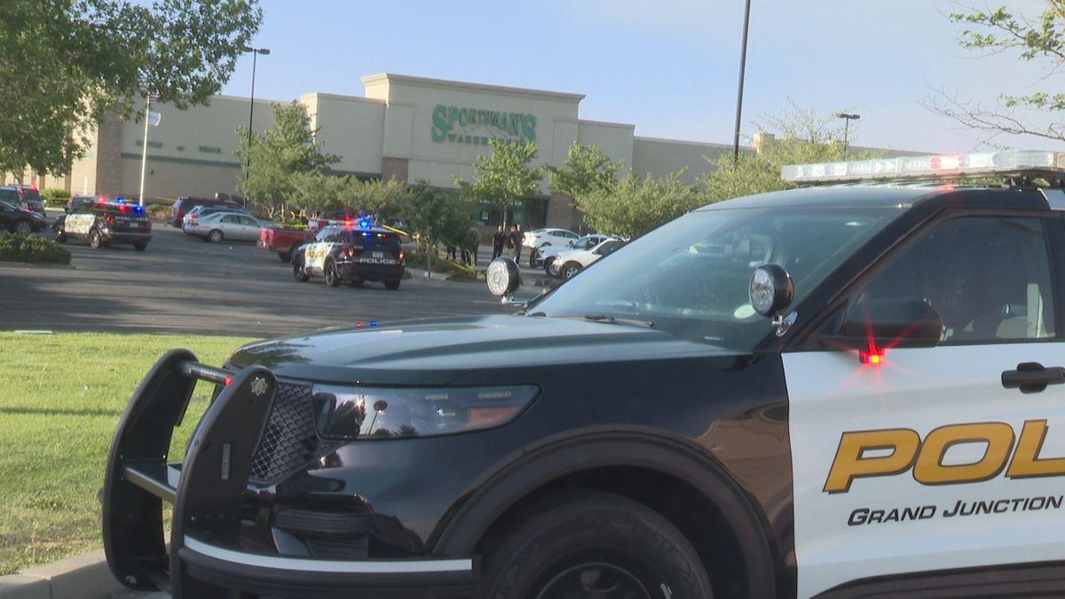 Police presence outside Sportsman's Warehouse