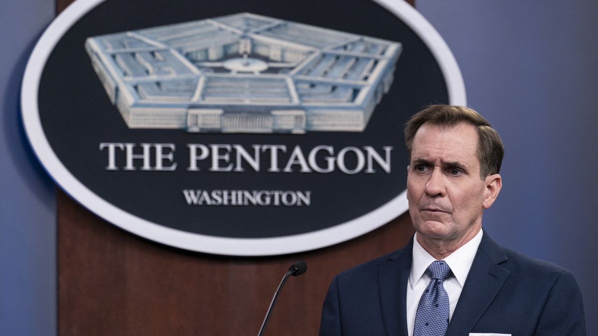 In this Wednesday, Feb. 17, 2021, file photo, Pentagon spokesman John Kirby speaks during a...