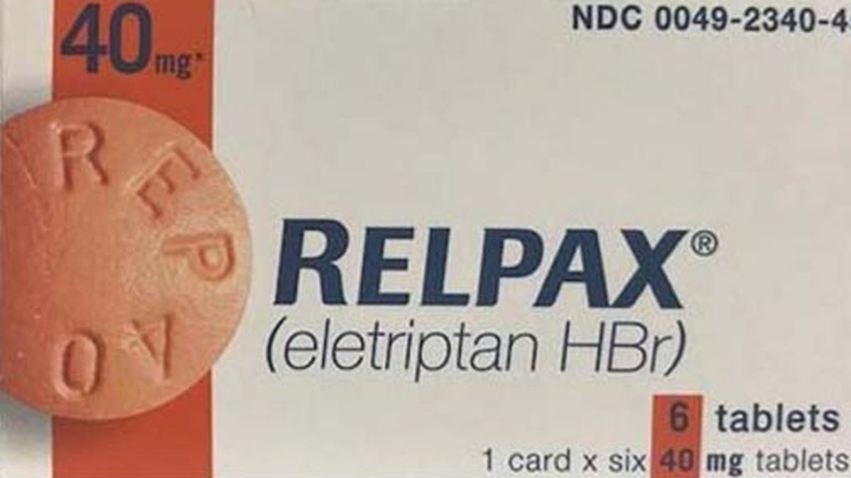 Pfizer Inc. is voluntarily recalling RELPAX® (eletriptan hydrobromide) 40 mg tablets, lots AR5407 and CD4565. Relpax is used for the acute treatment of migraines in adults. (Source: FDA)