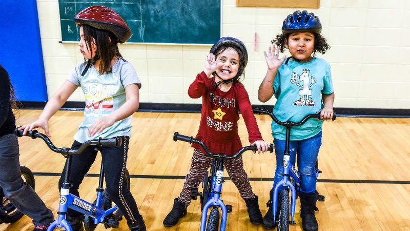 All Kids Bike is currently working to bring its Kindergarten PE Program to Parker School...