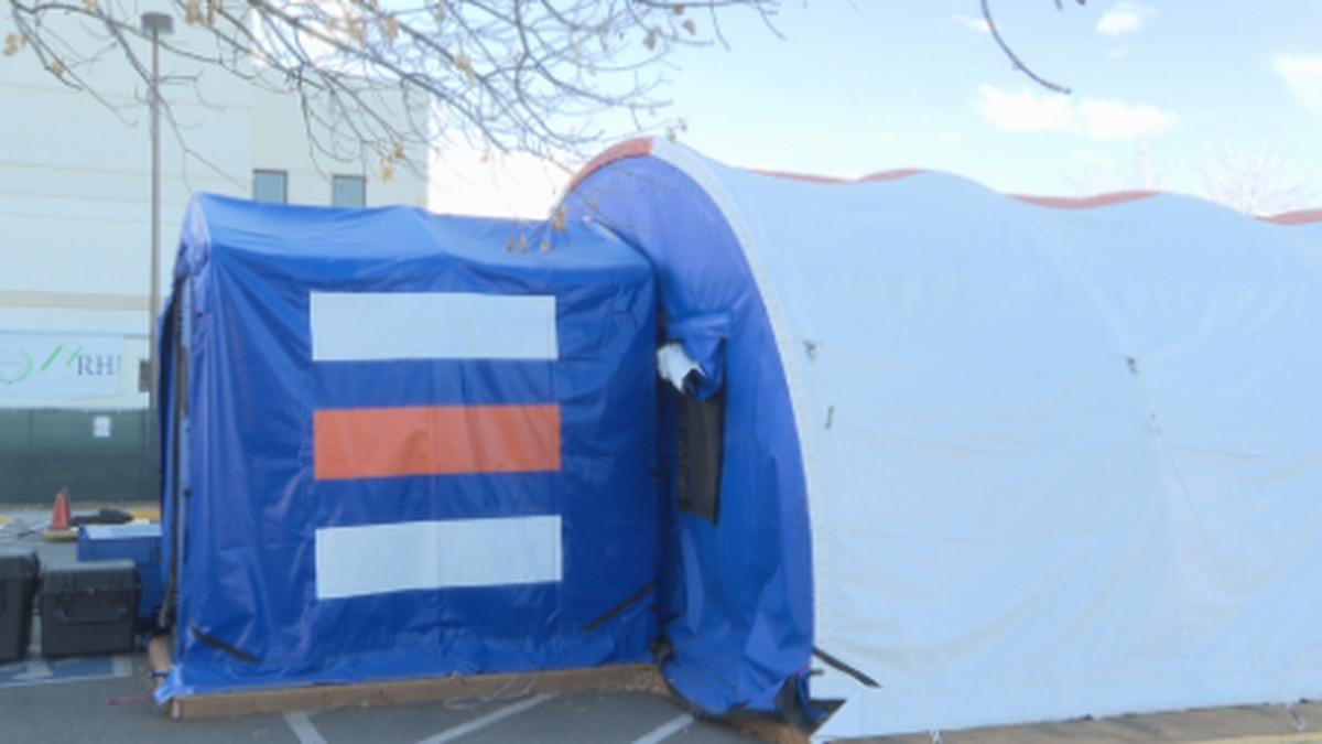 V.A utilizes outside tents for COVID needs