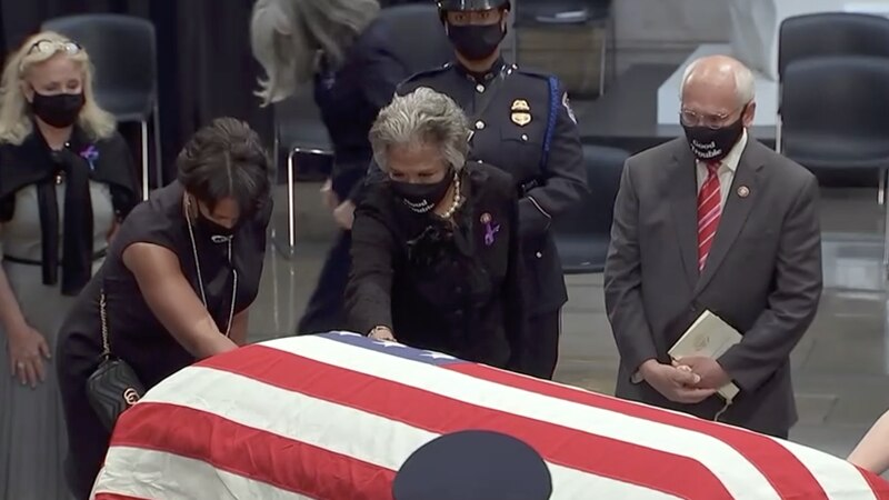 Family, lawmakers and other invited guests pay tribute to the late Rep. John Lewis, the last...