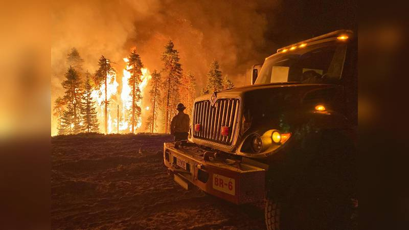 One Grand Junction firefighter captured this image of the crew's response in California.