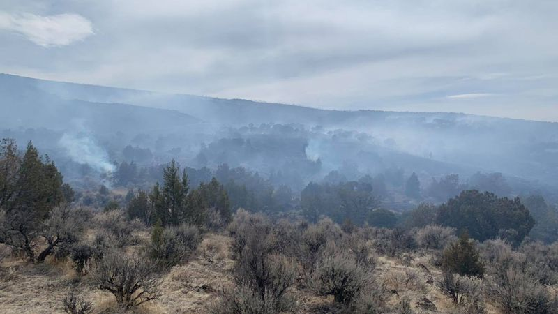 Photograph of the Horse Mountain Fire
