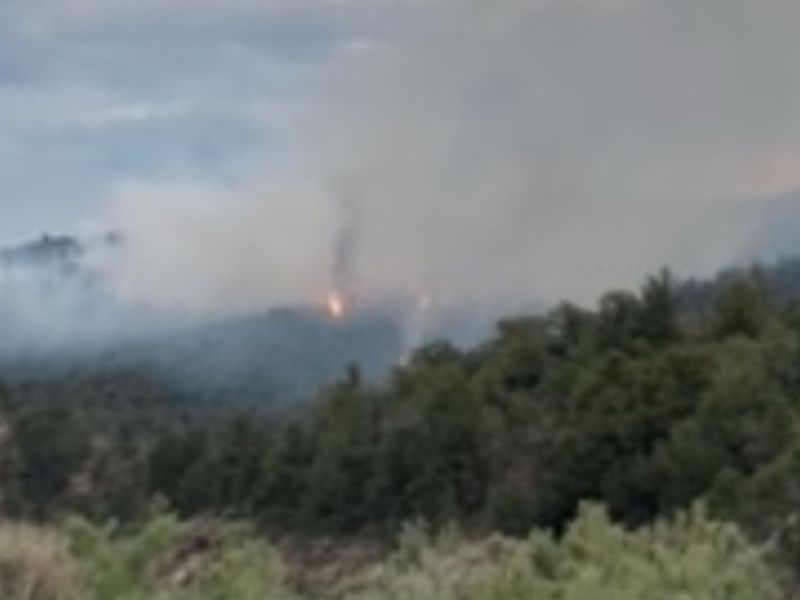 The Rio Blanco County Sheriff's Office provided this image of the fire.