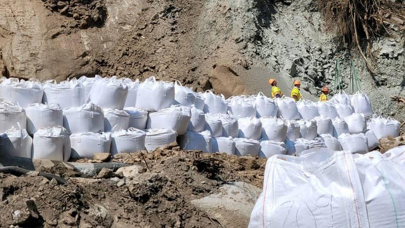 CDOT workers put super sac in Blue Gulch area