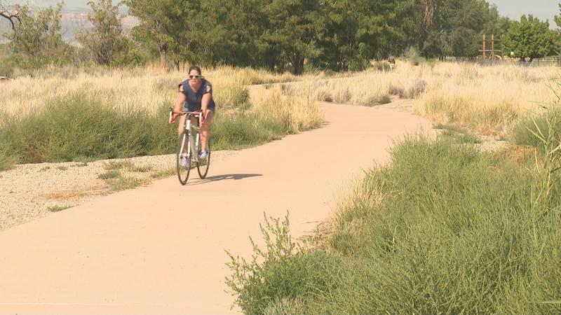 Biker enjoying the outdoors