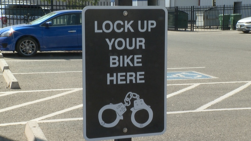 Sign at Fruita Police Station for bike owners