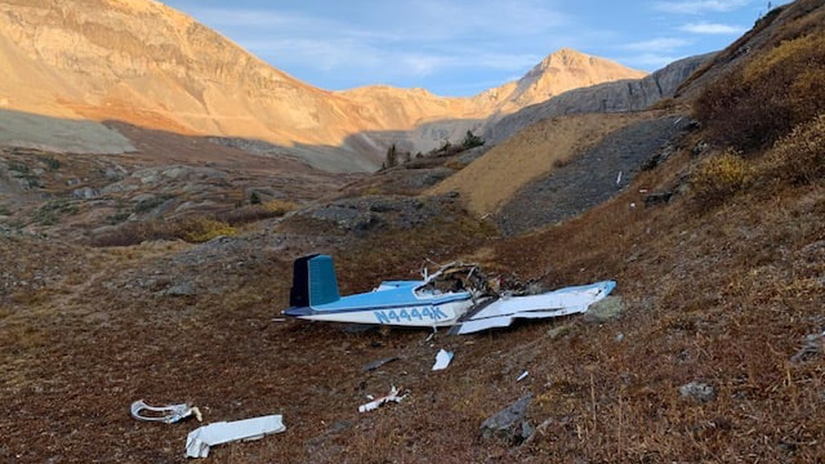 The plane crashed in Ingram Basin just east of Telluride Monday afternoon.