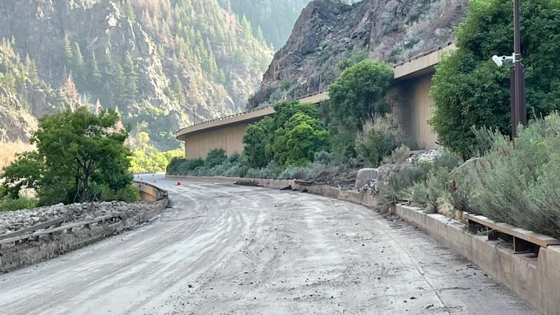 CDOT shard this photo of the progress made after mudslides on I-70 near Glenwood Canyon.