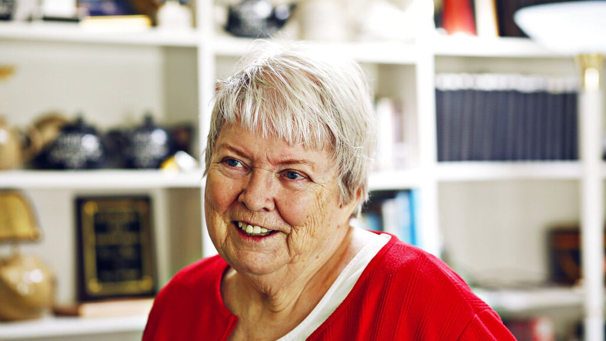 Mystery writer Margaret Maron in her office at her family farm in Johnston County on Sept. 14,...