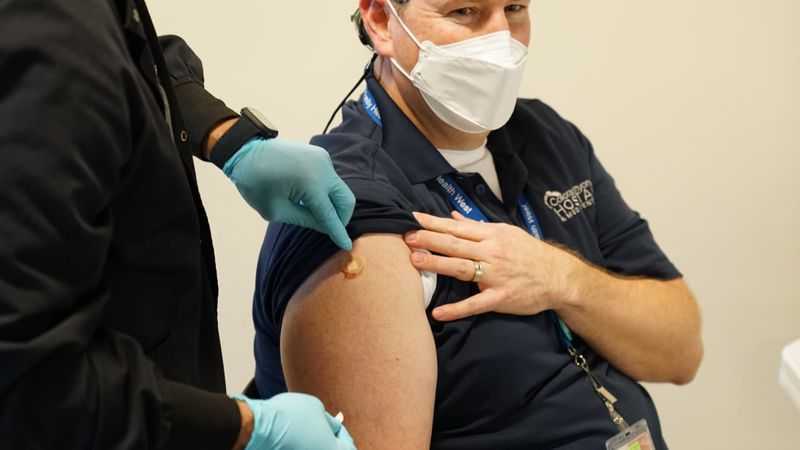 The first COVID-19 vaccination done in Mesa County