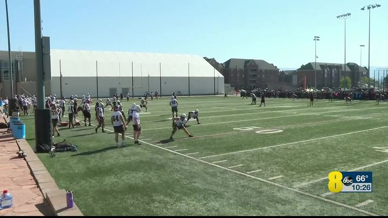 First CMU Football Practice of 2020