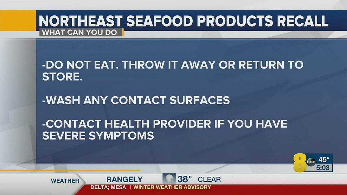 Seafood products sold at restaurants and grocery stores.