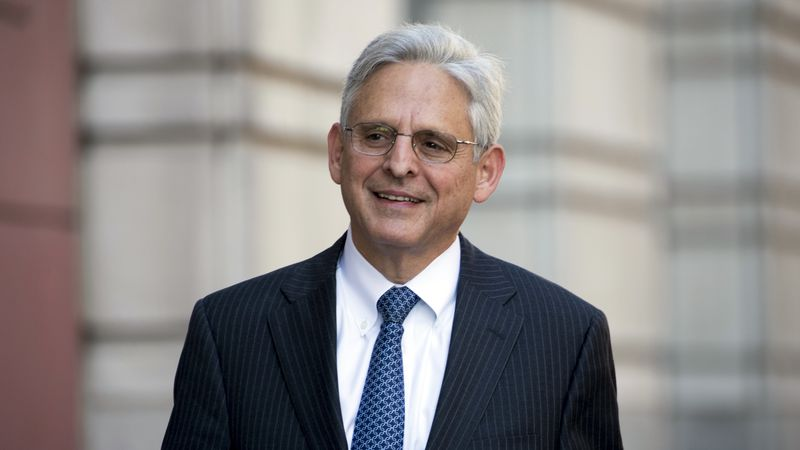 FILE - In this Nov. 17, 2017 file photo, Merrick Garland walks into Federal District Court in...