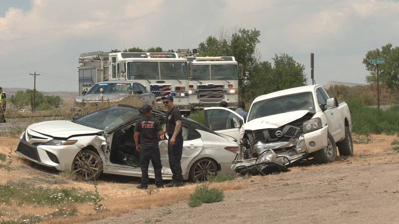 The cars involved included a Toyota sedan and a Nissan pickup truck.