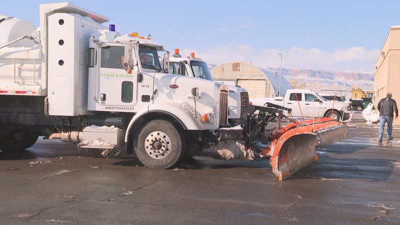 Grand Junction snowy roads