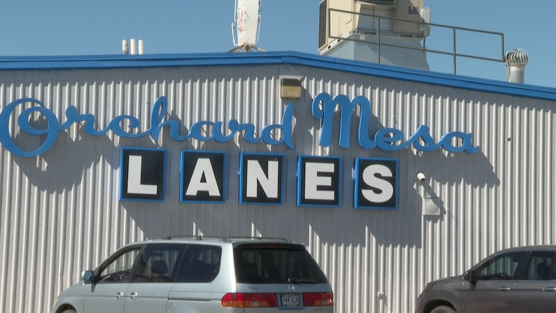Orchard Mesa Lanes sign outside the bowling alley