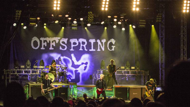 Dexter Holland, Greg K., Noodles and Pete Parada of The Offspring performs during the Summer...