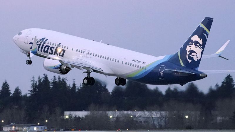 The Alaska Airlines flight took off on March 9.