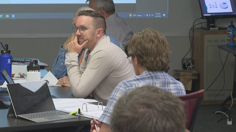Grand Junction City Council discussed budget items with representatives from various city...