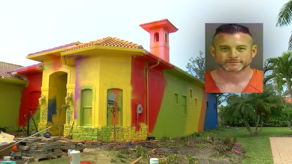 Florida house gets painted in bright colors leaving some neighbors shocked. (Source: WBBH, CNN)