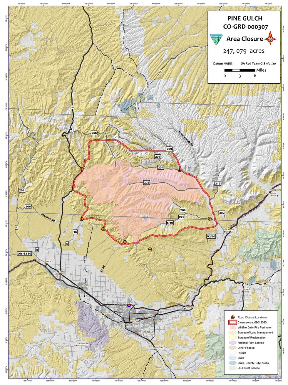 The BLM says that the closure is to ensure public and firefighter safety during suppression and rehabilitation efforts.