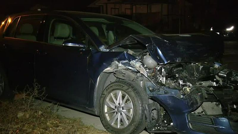One of the two vehicles that were hit in the incident