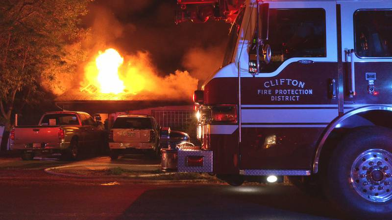 The fire burned a home on the 500 block of Dodge St. in the Clifton area.