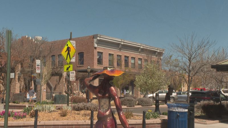 A sculpture in Downtown Grand Junction, Colo.
