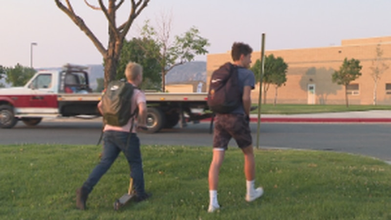 It's a first day of school like they've never seen before as kids of all ages were required to...