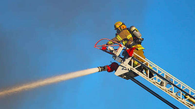 They responded after receiving calls about a thick black smoke and flames coming from the...