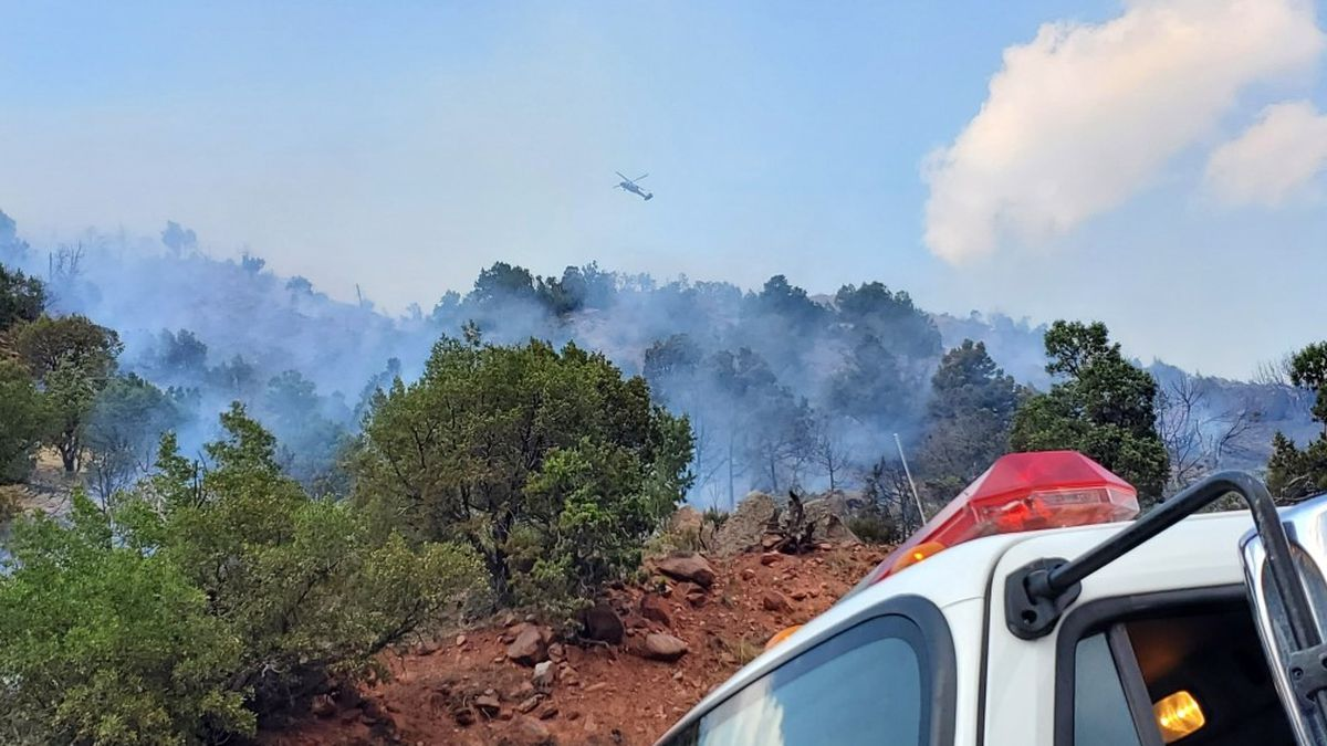 Both lanes on I-70 were closed on Wednesday afternoon after a wildfire started in West Glenwood Springs.