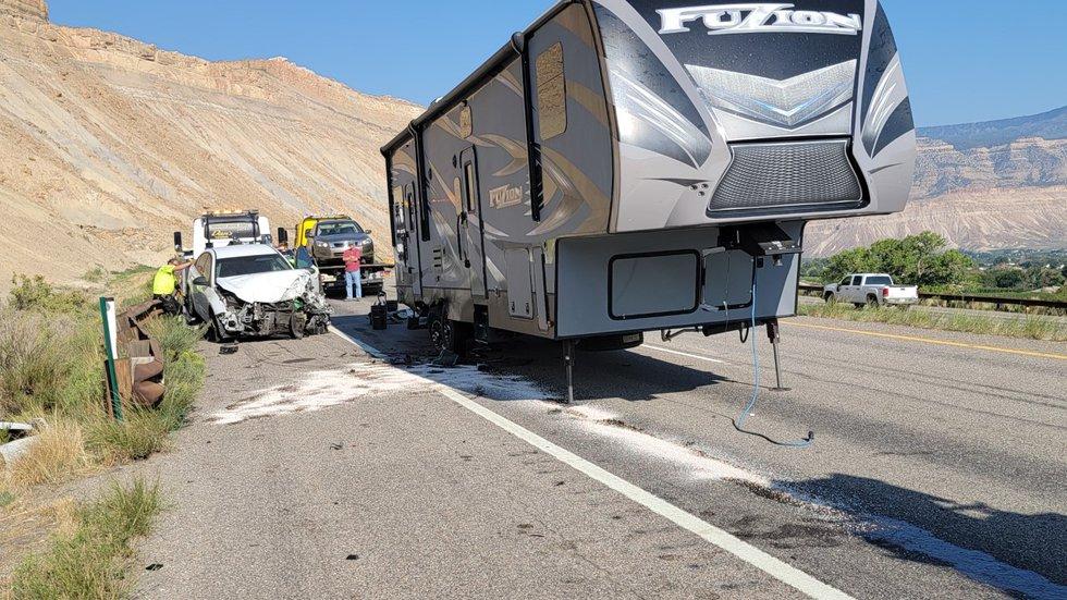 Multiple vehicle accident on I-70 Exit 42 near Palisade 9/9/21