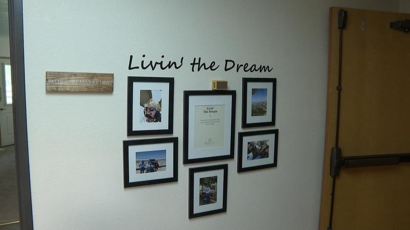 Livin the Dream wall photos