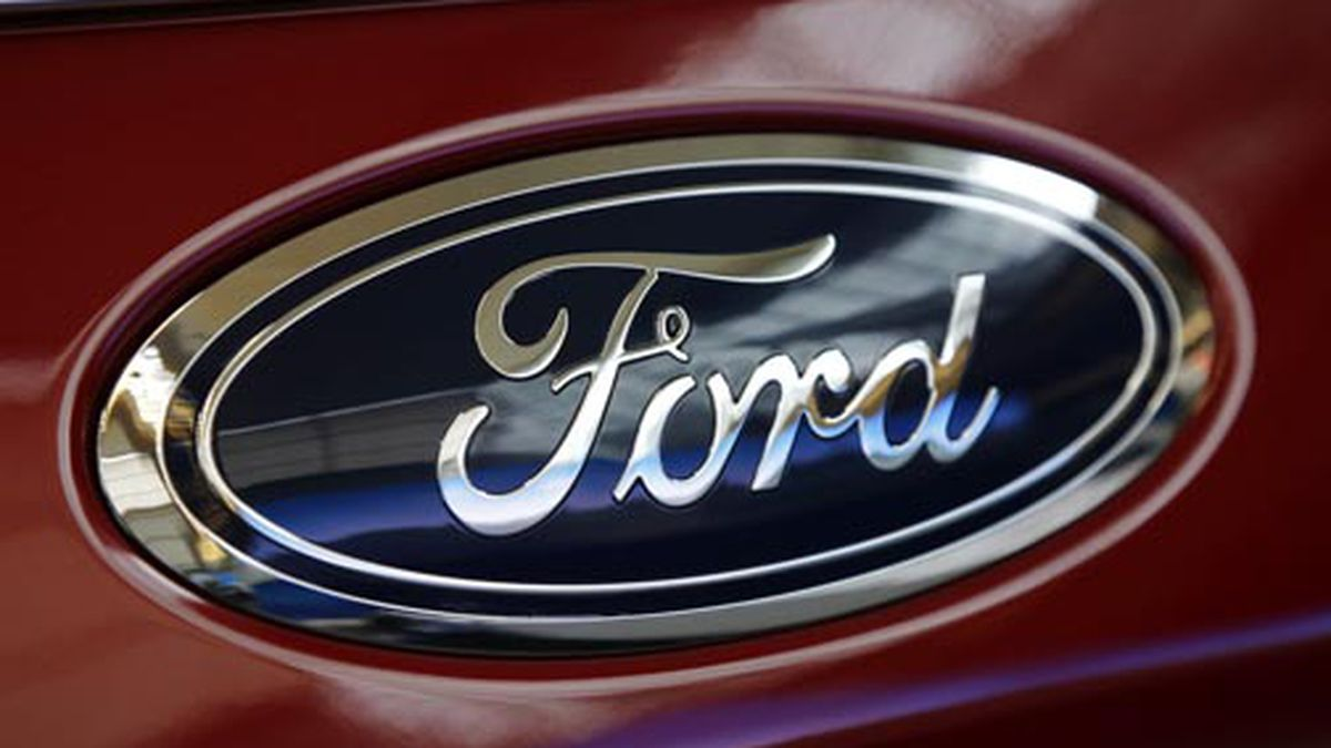 This Feb. 15, 2018 file photo shows a Ford logo on a vehicle at the Pittsburgh Auto Show in Pittsburgh. (AP Photo/Gene J. Puskar, File)