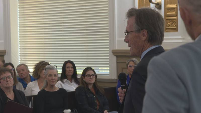 Mesa Co. Commissioner Scott McInnis (R) responding to a resident's question.