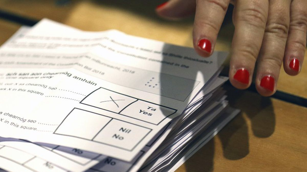 Counting of votes begins in the Irish referendum on the 8th Amendment of the Irish...