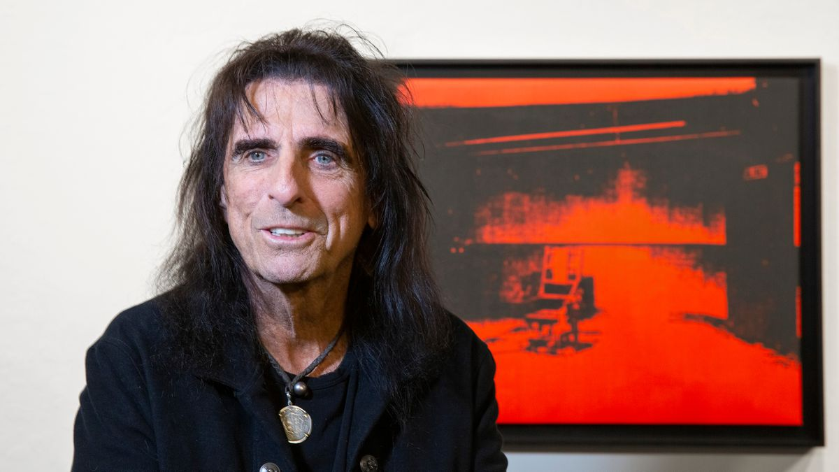 Alice Cooper says the artwork was a birthday gift in the '70s from a girlfriend who was friends...