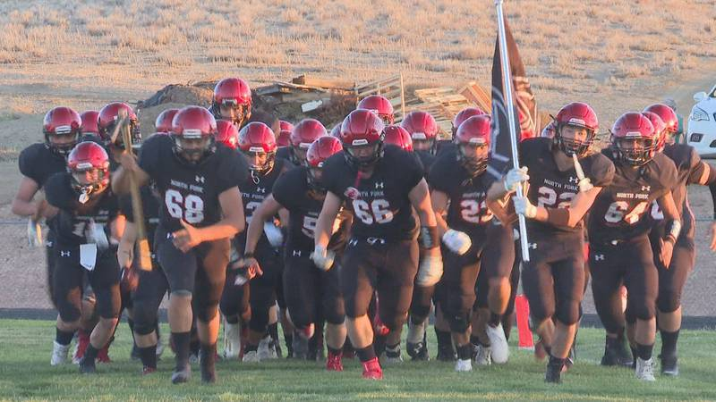 North Fork led 41-0 after the first quarter in their first ever home game, winning 55-0.