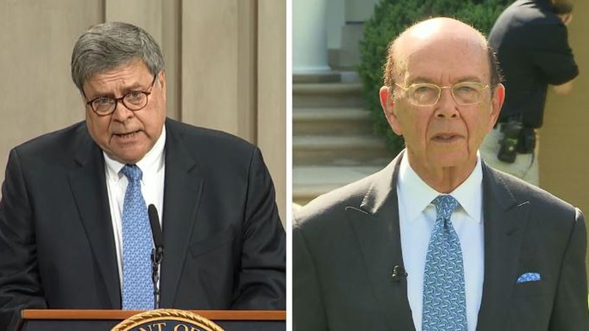 The House voted, 230-198, to hold Attorney General William Barr and Commerce Secretary Wilbur...