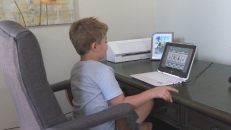 The Boozell's chose to do online schooling for their son's stability in the case in-person...