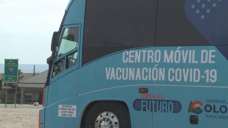 Mobile vaccine bus at Horizon Drive