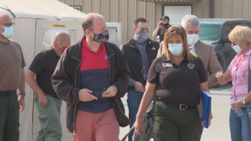 Governor Polis was in town to meet with the incident command center here in Grand Junction,...