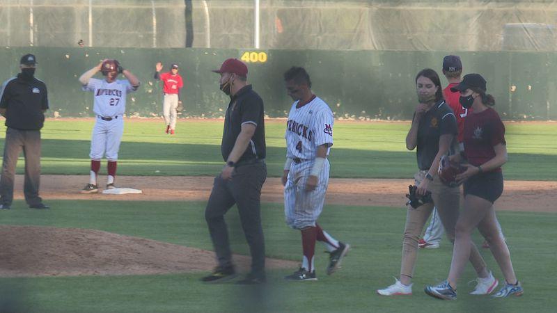 Chase Hamilton exits game
