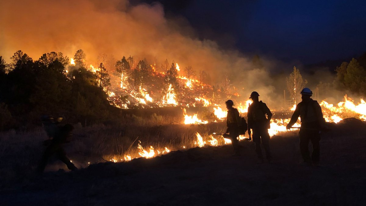 Pine Gulch Fire on Aug.15, 2020.  The fire is among the top five biggest wildfires in Colorado...