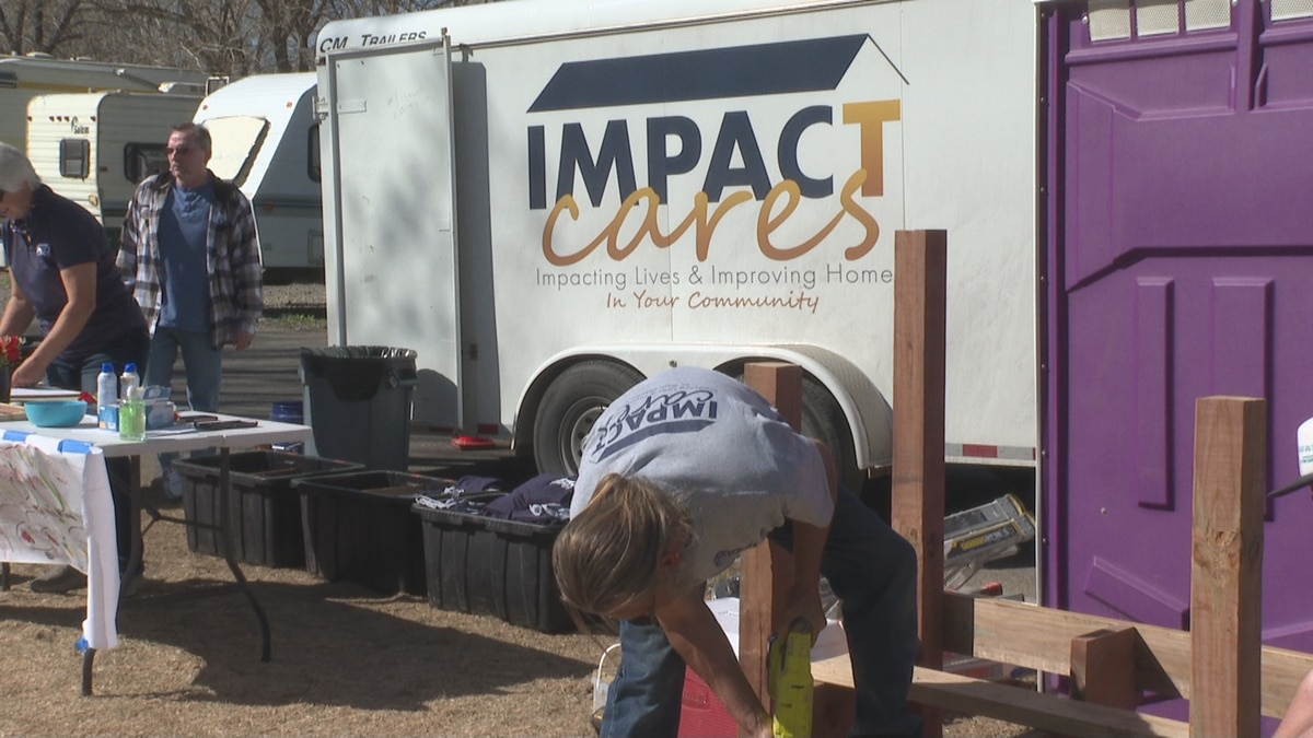 The Impact Cares organization assisted residents of the Rose Park mobile home community on...